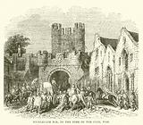 Micklegate Bar, in the Time of the Civil War