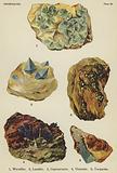 Phosphates, wavellite, lazulite, cuprouranite, vivianite, turquoise
