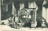 Interior of mountain hut