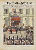 Inaugurazione Della XXIma Legislatura, Il Corteo Reale Giunge Al Palazzo Madama, A Roma, Il 16 Corr