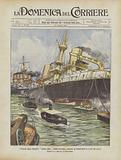 L'Incaglio Della Corazzata Andrea Doria Presso Gallipoli, Durante Le Esercitazioni Di Lancio Dei Siluri