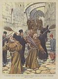 La Tragicomica Baruffa Tra Monaci Greci E Francescani Avvenuta Presso Il Santo Sepolcro, A Gerusalemme