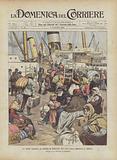 La Triste Partenza Da Genova Di Contadini Dell'Alta Italia Emigranti in America