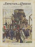 Nel 54° Anniversario Delle Cinque Giornate Di Milano, I Veterani Portano Fiori Al Monumento