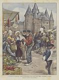 Al Mercato Di Amsterdam, L'Arrivo Dei Bollettini Sulla Salute Della Regina Guglielmina D'Olanda