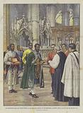 Ras Makonnen Reca Una Croce Votiva Al Decano Dell'Abbazia Di Westminster, A Londra, Per La Salute …