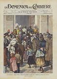 Un Banchetto A Mille Poveri Di Roma Pel Giubileo Di Leone XIII, I Commensali Entrano in Vaticano