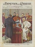 Il Pontefice Leone XIII Pronuncia Davanti Al Fonografo Le Parole Dell'Apostolica Benedizione