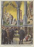 La Cerimonia Del 19 Corr in Onore Di Verdi, La Visita Alla Sua Tomba Teste Decorata Con Bronzi E Mosaici