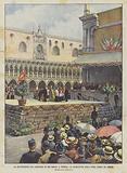 La Ricostruzione Del Campanile Di San Marco, A Venezia, La Benedizione Della Prima Pietra (25 Aprile)