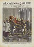La Morte Di Leone XIII, La Esposizione Al Pubblico Della Salma Nella Cappella Del Sacramento in San Pietro