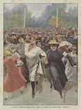 Una Gara Di Corsa Fra Mille Sartine A Parigi, La Partenza Dal Giardino Delle Tuileries