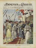 L'Imperatore Guglielmo in Sicilia, Ricevimento Di Signore A Bordo Della Nave Hohenzollern