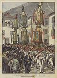 Le Feste Tradizionali E Caratteristiche, La Processione Dei Ceri A Gubbio