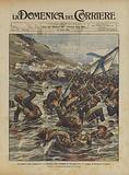 La guerra russo giapponese, un episodio della battaglia di Nan-shan dove le truppe si batterono in acqua