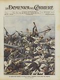 Un episodio della battaglia di Liao-Yang fra Russi e Giapponesi, la lotta attorno alle artiglierie