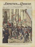 Le elezioni generali politiche, la lotta fra gli affissatori di manifesti elettorali a Milano
