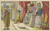 Joseph explaining the dreams of Pharoah