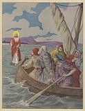 Jesus Christ walking on the waters