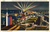 Chicago World's Fair, night view from observation platform of Sky Ridge