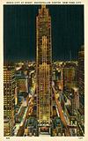 Radio City at night, Rockefeller Center, New York City, USA