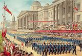Queen Victoria's Diamond Jubilee 1897, Blue Jackets passing The National Gallery