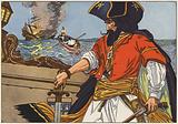 Blackbeard, the most famous of the Atlantic Coast pirates