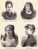 The late Miss M Darley Mutrie, the late Miss Philp, Madame Edmond Adam, Mrs Cleveland