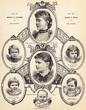 HRH the Duchess of Connaught and HRH the Duchess of Albany, and their Children