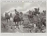 A cavalry charge that saved the line, silencing a nest of machine guns