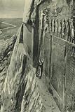 Sir Henry Rawlinson on the Rock of Behistun