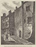 Newgate at the close of the 18th Century, showing the Almsbox for Poor Prisoners