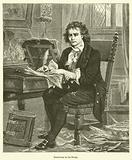 Beethoven in his Study