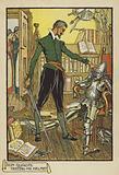 Don Quixote testing his Helmet