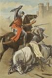 Conflict between Godfrey de Bouillon and the Saracen, at Antioch
