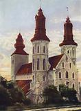 Visby Cathedral, on the Island of Gothland