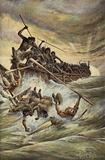 """The sharp prow of the war-canoe struck us"""