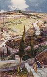 The North East end of Jerusalem and Mizpah, from the Mount of Olives