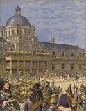 Grand carrousel des Tuileries, course de tetes par le Roi empereur des Romains