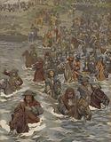 French army crossing the Rhine