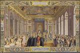 Reception of the Doge of Genoa, in La Galerie des Glaces, Versailles