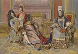 Familiarity of the Duchess of Burgundy with King Louis XIV