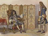 Visit of Villars to King Louis XIV at Marly