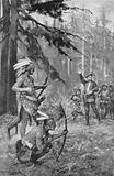 Jacques Cartier comes across natives in a forest near the St Lawrence river