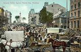 Jacques Cartier Square, Market Day, Montreal
