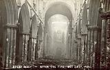 Selby Abbey, after the fire, 20 October 1906