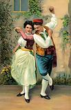 Spanish dancers, with castanets