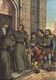 Luther nailing his 95 Theses to the door of All Saints' Church, Wittenberg