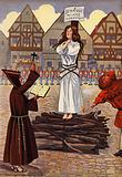 Joan Of Arc about to be burned at the stake
