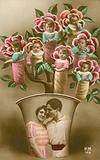 Babies growing on a rose bush